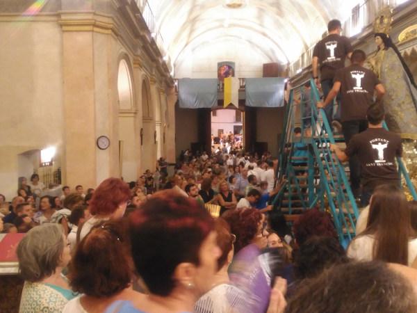Solemne «Baixà» de la imatge de la Puríssima i exaltació de la imatge del Pare Sant Francesc