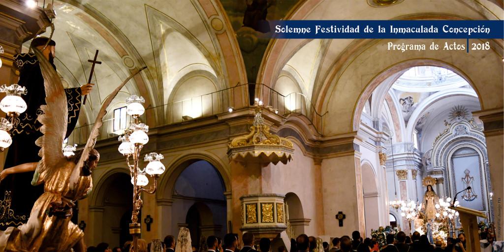 Programa d'Actes del Solemne Novenari en honor a la Puríssima