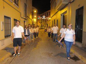 Los mayorales en la procesión